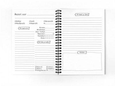 Van Mariel Mijn recepten – Receptenboek Recepten invulboek
