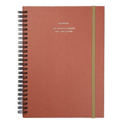 HOP Notebook Big - Brick red -notebook for creative thinkers and love letters - voorkant - invulboekjes.nl