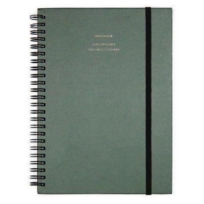 HOP Notebook Big - Forest green - notebook for einsteins and master plans - voorkant - invulboekjes.nl