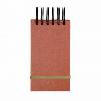 HOP Notepad Small - Brick red - voorkant - invulboekjes.nl