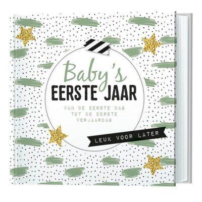 Invulboek Baby's eerste jaar - van de eerste dag tot de eerste verjaardag - invulboekjes.nl