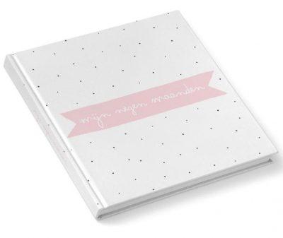 KIDOOZ Invulboek 'Mijn negen maanden' - Blush - voorkant - invulboekjes.nl
