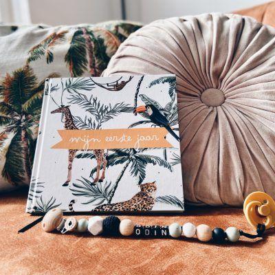 KIDOOZ Invulboek 'Mijn eerste jaar' – Safari Babyboek