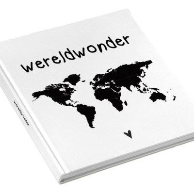 KIDOOZ Invulboek 'Wereldwonder' - voorkant - invulboekjes.nl