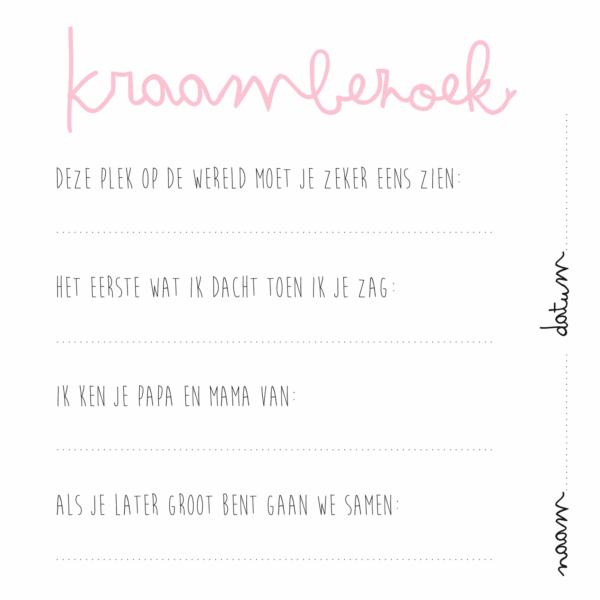 KIDOOZ Kraambezoekboek – Blush Boeken in de aanbieding