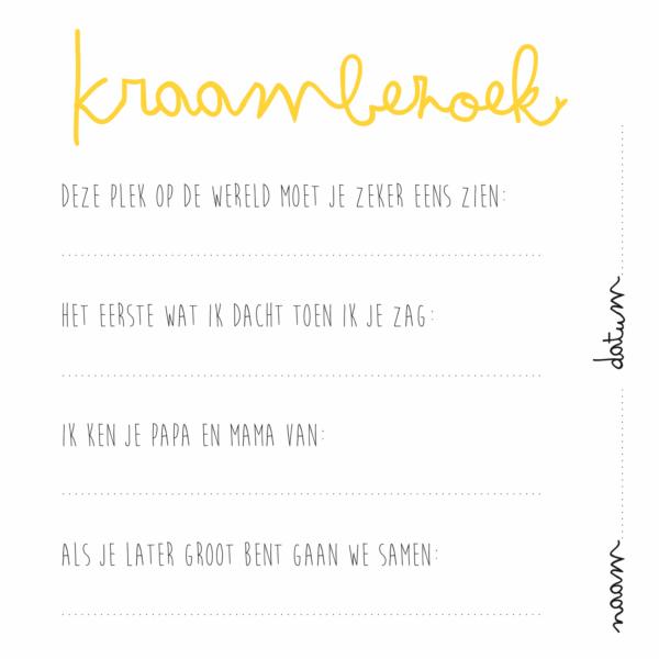 KIDOOZ Kraambezoekboek – Oker Boeken in de aanbieding