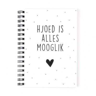 Krúskes Hjoed is alles mooglik - Fries notitieboek - voorkant - invulboekjes.nl