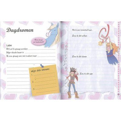 Mijn geheime dagboek voor meisjes binnenkant- Invulboekjes.nl