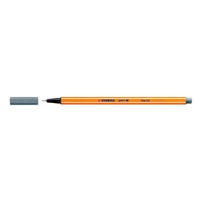 Stabilo Point 88 Fineliner – Fine 0,4mm - Donkergrijs - invulboekjes.nl