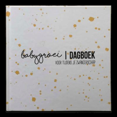 Studio DEMICO Babygroeidagboek - Oker - voorkant - invulboekjes.nl