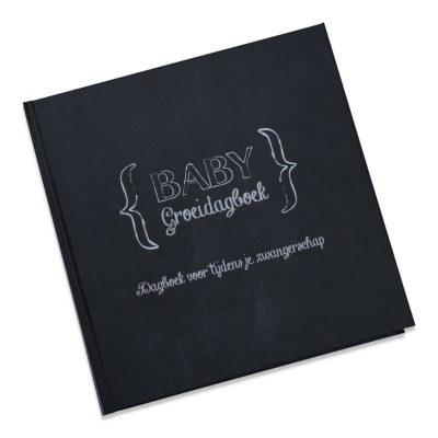 Studio DEMICO Babygroeidagboek zwangerschap - Krijtbord - voorkant 2 - invulboekjes.nl