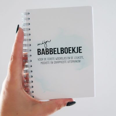 Studio DEMICO Mijn babbelboekje - Mint - voorkant - invulboekjes.nl