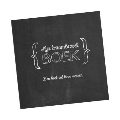 Studio DEMICO Mijn kraambezoekboek - Krijtbord - voorkant - invulboekjes.nl