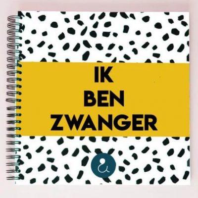 Studio Ins & Outs 'Ik ben zwanger' - Zwangerschapsboek - Okergeel - voorkant - invulboekjes.nl