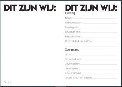 Studio Ins & Outs Invulboek 'Mama&ik' - binnenkant 2 - invulboekjes.nl