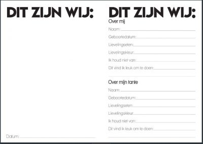 Studio Ins & Outs Invulboek 'Tante&ik' - binnenkant - invulboekjes.nl