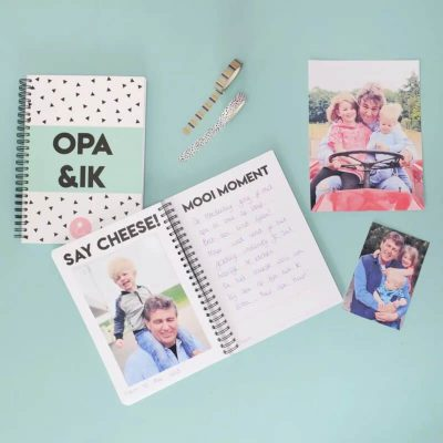 Studio Ins & Outs Invulboek 'Opa&ik' - Mint - sfeerfoto - invulboekjes.nl