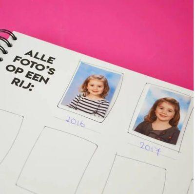 Studio Ins & Outs 'Mijn schoolfoto's' - Mint - binnenkant - invulboekjes.nl
