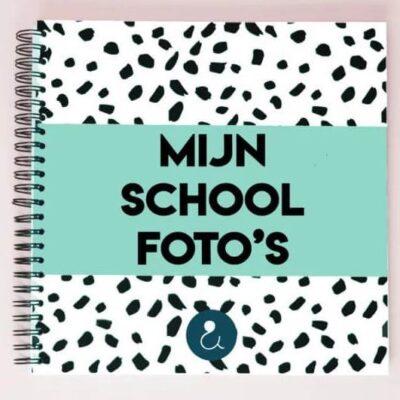 Studio Ins & Outs 'Mijn schoolfoto's' - Mint - voorkant - invulboekjes.nl
