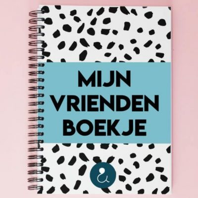 Studio Ins & Outs 'Mijn vriendenboekje' - Lichtblauw - voorkant - invulboekjes.nl