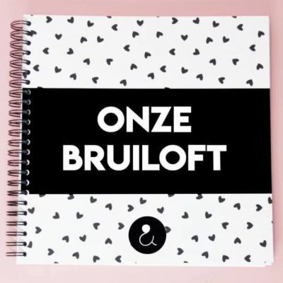 Studio Ins & Outs 'Onze bruiloft' - Monochrome - voorkant - invulboekjes.nl