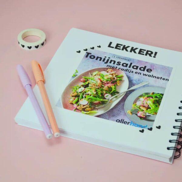 Studio Ins & Outs 'Receptenboek' - Donkerblauw - binnenkant 3 - invulboekjes.nl