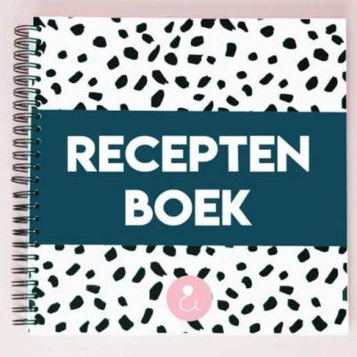 Studio Ins & Outs 'Receptenboek' - Donkerblauw - voorkant - invulboekjes.nl