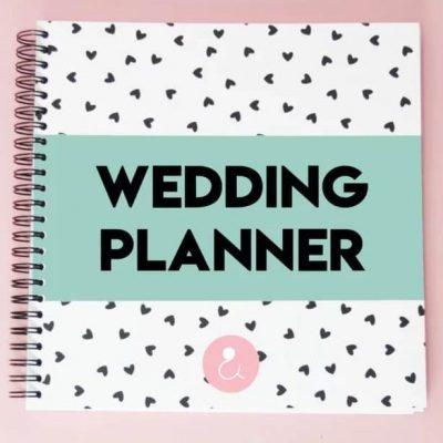 Studio Ins & Outs 'Wedding planner' - Mint - voorkant - invulboekjes.nl