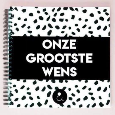 Studio Ins & Outs Zwangerschapswens 'Onze grootste wens' - voorkant - invulboekjes.nl