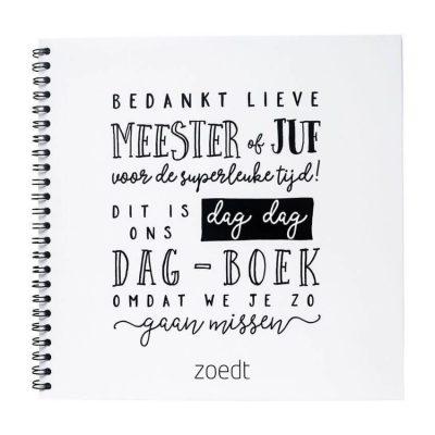 Zoedt Dag-dag dagboek - Omdat we je zo gaan missen - voorkant - invulboekjes.nl