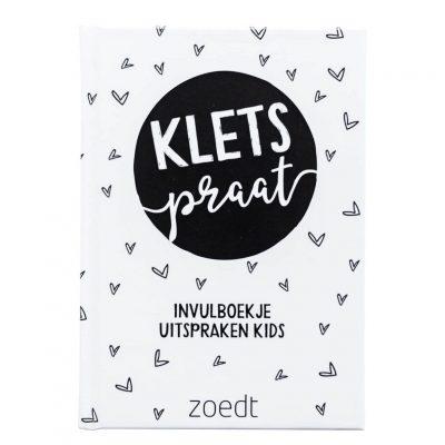 Zoedt Kletspraat uitsprakenboekje - voorkant - invulboekjes.nl