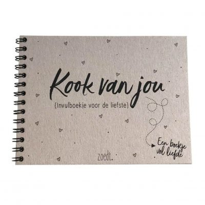 Zoedt Kook van jou - Een boekje vol liefde - voorkant - invulboekjes.nl