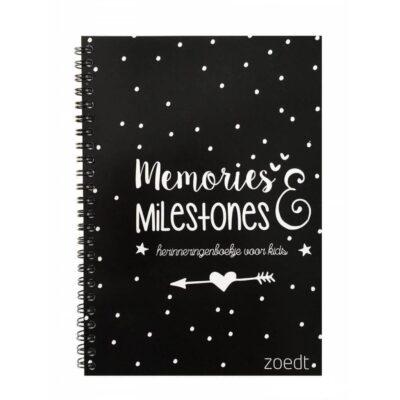 Zoedt Memories & milestones - Zwart - voorkant - invulboekjes.nl (1)