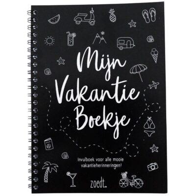 Zoedt Mijn vakantie boekje - Zwart - voorkant - invulboekjes.nl