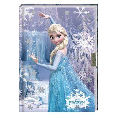 Disney Frozen dagboek met slotje - voorkant - invulboekjes.nl