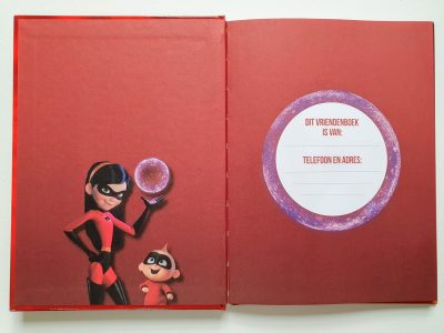 Disney Incredibles 2 Vriendenboekje Vriendenboekje