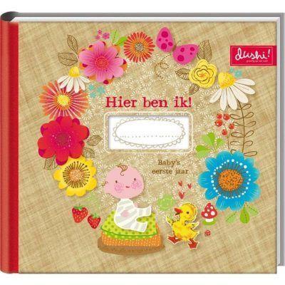Dushi Invulboek Baby's eerste jaar - voorkant - invulboekjes.nl