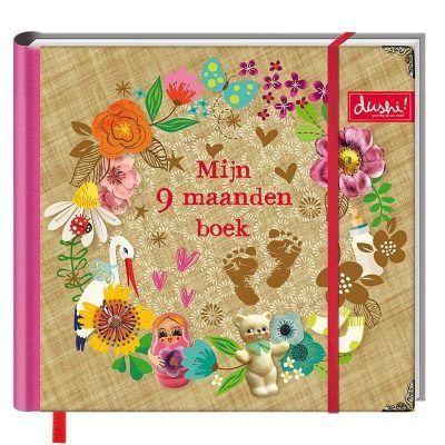 Dushi Invulboek Mijn 9 maanden dagboek - voorkant - invulboekjes.nl