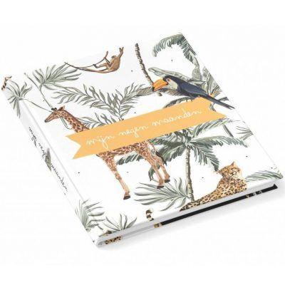 KIDOOZ Invulboek 'Mijn negen maanden' - Safari - voorkant - invulboekjes.nl