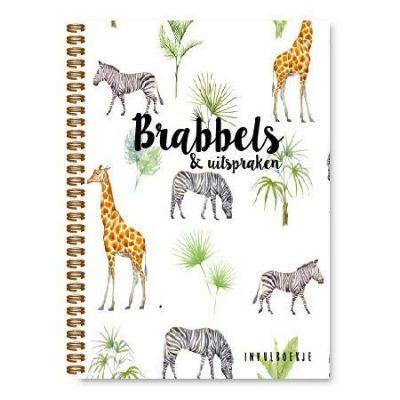 Kidooz Brabbels & uitspraken - Safari - voorkant - invulboekjes.nl