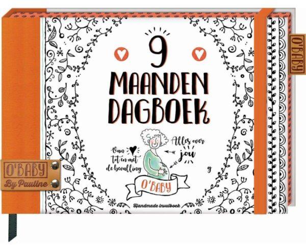 O'Baby by Pauline - 9 maanden dagboek - voorkant - invulboekjes.nl