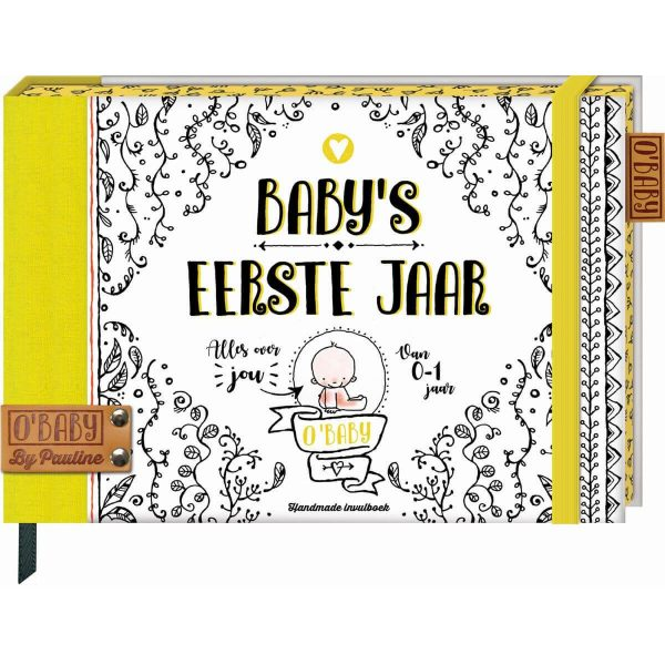 O'Baby by Pauline - Baby's eerste jaar - voorkant - invulboekjes.nl