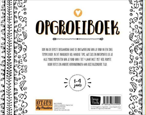 O'Baby by Pauline - Opgroeiboek - achterkant - invulboekjes.nl