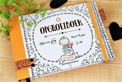 O'Baby by Pauline - Opgroeiboek - voorkant - invulboekjes.nl