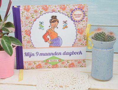 Pauline Oud - Mijn 9 maanden dagboek - voorkant - invulboekjes.nl