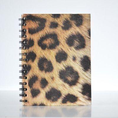 Pretty ECO - Animal print notebook - Leopard - voorkant - invulboekjes.nl