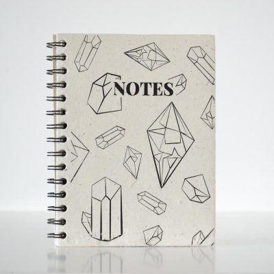 Pretty ECO - Crystal notebook - Elephant poo paper - voorkant - invulboekjes.nl