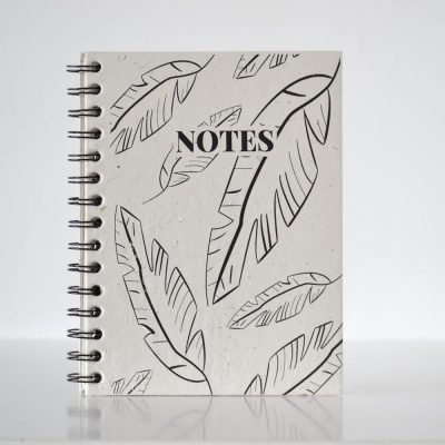 Pretty ECO - Jungle leaves notebook - Elephant poo paper - voorkant - invulboekjes.nl