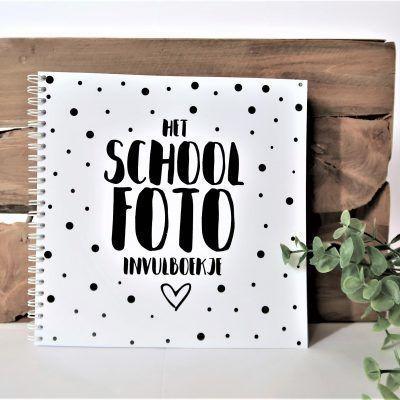 SilliBeads Het Schoolfoto invulboekje - Wire-O - voorkant - invulboekjes.nl