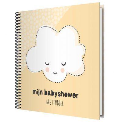 Tante Kaartje Mijn babyshower gastenboek - Uni - voorkant nieuw - invulboekjes.nl